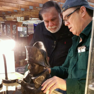 Pete doing an appraisal on an 1800s Nepoleon bust